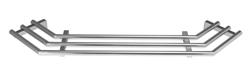 Tablettrutsche für Außeneck, 45°, rohrförmig