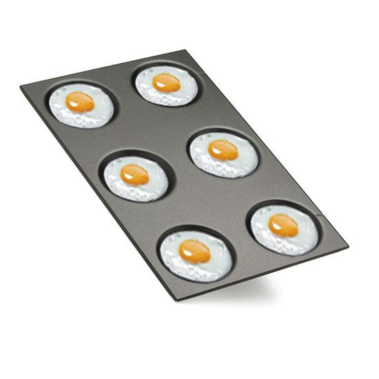 emailliertes Aluminiumblech für Spiegeleier, Omelettes und Crêpes, GN 1/1