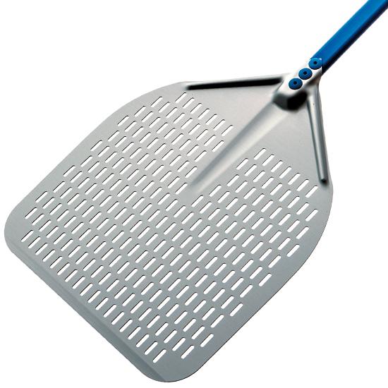 Pizzaschaufel, rechteckig, durchlöchert, 330x330 mm, L=1560 mm