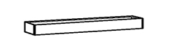 hoher Kamin für Kochgeräte, Breite 800 mm