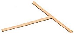 Holzstab, 180x180 mm, für Crepesgeräte