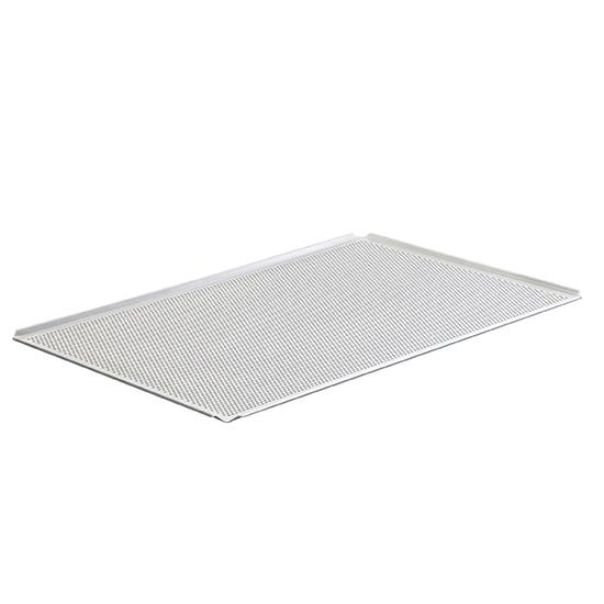 Backblech aus Aluminium unbeschichtet, GN 1/1 - 4 Seiten 45°, gelocht