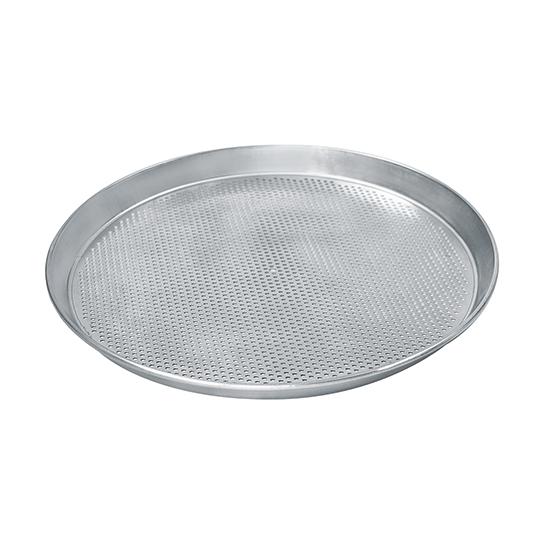 Pizzablech ø 300 mm aus Aluminium, gelocht ø 3 mm